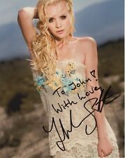 HELENA MATTSSON AUTHENTIC SIGNED 8x10 COLOR PHOTO     SEXY ACTRESS      TO JOHN