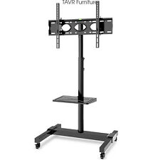Mobile TV Stand with Removable Shelf for Most 32-70 Inch LCD LED TVs