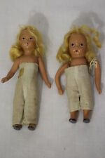 "Pair of Vintage Nancy Ann Dolls: Blonde Hair, Bisque 40's Era, No Clothes 6""&7"""