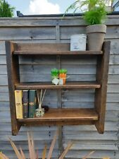 Reclaimed Wooden Rustic Handmade Shelves Storage Unit Cupboard Cabinet