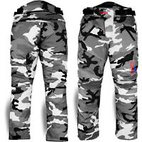 Motorbike Motorcycle Waterproof Cordura Textile Trousers Pants Armours CAMO