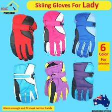 A Pair of Skiing Gloves women lady Winter Snow Outdoor Sports Windproof Warm Col