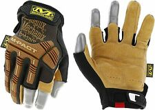 Mechanix Wear Leather M-Pact Framer Work Gloves Brown (choose size)