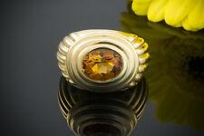 Schmuck Klassischer Gelbgold Ring mit Citrin 1,7CT 750er Gold 18 Karat