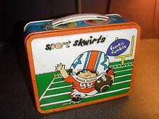 "1972 Vintage ""Sport Skwirts"" (Jimmy Blooper) Metal Lunchbox Pail (Ohio Art)"