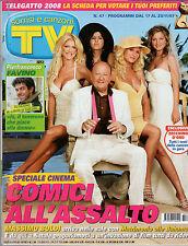 TV SORRISI E CANZONI=N°47 17/11/2007=MIGUEL BOSE=P.FAVINO=ANGELINA JOLIE