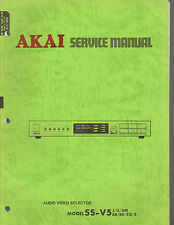 AKAI ss-v5 um j Service Manual audio video selector original factory repair book