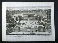 Gravure début 18e Pierre Aveline  Château de Marly (vue depuis l'entrée)