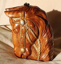 TIMMY WOODS CAROUSEL HORSE PONY STALLION COLT HANDCARVED MINAUDIERE CLUTCH BAG