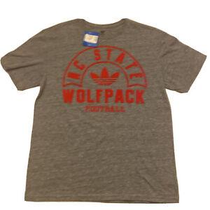 NC State Wolfpack Football NCAA Adidas Originals Men's Grey T-Shirt L Large