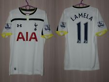 Tottenham Hotspur Lamela 2014 2015 Home White Under Armour Shirt Jersey Trikot