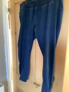 Papaya Blue Denim Skinny Maternity Pregnancy Jeans Size 22