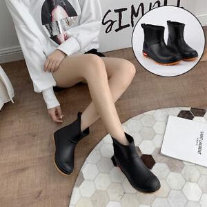 Waterproof Ankle Wellies Men Women Outdoor Shoes Wellington Rain Boots Size 5-9