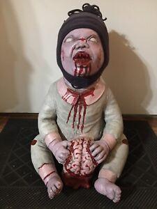 Spirit Halloween Zombie Baby, Brain Eata, Rare, Truly Macbre