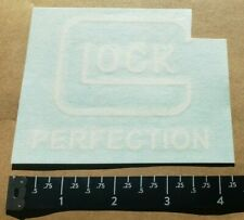 OEM Original Glock Perfection White Peel N' Stick Die Cut Vinyl Sticker Decal