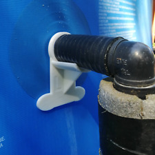 More details for 2 x swimming pool pipe holders (large): holds pipes 35mm to 44mm (designed to fi