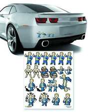 FALLOUT 4 FAMILY DECALS by FANWRAPS FOR HOME OR CAR NEW IN PACKAGE #snov16-153