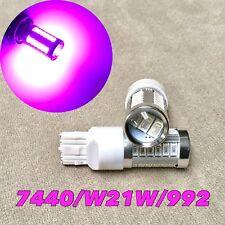 Rear Turn Signal Light T20 7440 7441 992 W21W 33 SMD LED Purple Pink Bulb W1 J