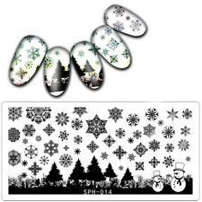 Nail Art Stamping Plates Image Plate Christmas Tree Snowflakes Snowman SPH14