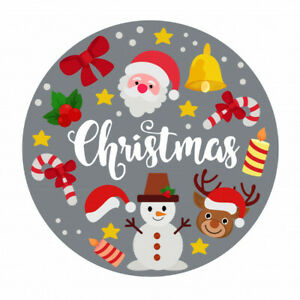 Merry Christmas Edible Icing 7.5 inches Cake topper SET 3