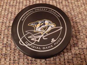 SHEA WEBER NASHVILLE PREDATORS OFFICIAL GAME autographed hockey puck