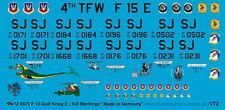 Peddinghaus 1/72 0875 F 15 Gattoni Nose Art e Uccidere Marcature Campo da Golf