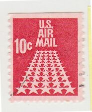 (UST-255) 1968 USA 10c red Fifty stars air mail (K)