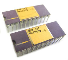 Two Nos National Semiconductor Mm5280D-5 4096 Bit Dynamic Ram Ic's. Sa