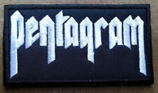 Pentagram Embroidered patch Sabbath Witchfinder Saint Vitus Electric Wizard
