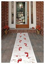 2 Halloween Bloody Footprint Carpet Floor Runner Prop, Trick or Treat Decoration