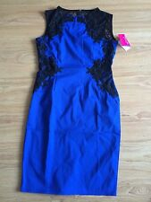 Paper Dolls Blue And Black Bodycon Lace Dress ~ size 6
