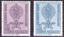 SELLOS TEMA MEDICINA. ITALIA 1962 876/77 MALARIA 2v.