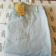 194e5ad4e1c Cotton Trader Ladies Bootcut Jeans - Colour Chalk Blue - Size 26 Leg 29
