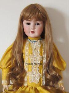 """perruque Jumeau® blond foncé T38/40cm(15"""")-poupée ancienne moderne-doll wig"""