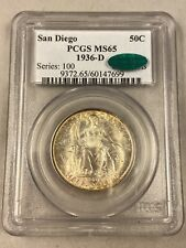 1936-D PCGS MS65 - San Diego Commemorative Half Dollar - CAC Approved