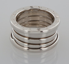 BVLGARI B. ZERO 1 Quattro Band Ring 18ct Bianco Oro Taglia J 1/2 (49)