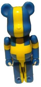 """Bearbrick Series 16 S16 Flag """"Sweden"""" Be@rbrick Medicom"""