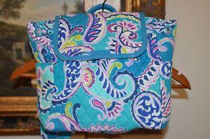 VERA BRADLEY Fashion PURSE Backpack Travel Shoulder WAIKIKI PAISLEY  NWT $125.00