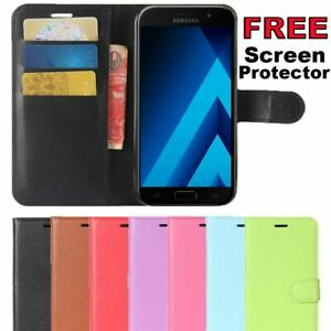 Leather Wallet Case Card Magnetic Flip Gel Cover For Samsung Galaxy A5 2017