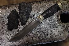 "Premium original design handmade knife ""Tusk"" Russian bulat (Hardness) 64HRC"