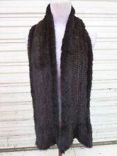 Genuine Real  Mink fur  Fishtail scarf  (Brown) 170CM*15CM