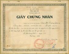 Vietnam War Military Certificate of The Ordnance School Trường Quân Cụ KBC 4152