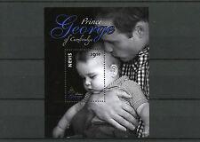 Nevis 2014 MNH Prince George of Cambridge 1v S/S II Royal Baby Prince William