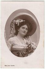 Vintage MISS JEAN AYLWIN Stage Actress ANTIQUE POSTCARD [RP] c1910