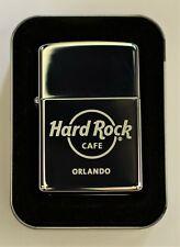 New Zippo Lighter Hard Rock Cafe Orlando 2007 September Polished Chrome