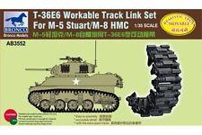 BRONCO AB3552 1/35 T36E6 Workable Track Link Set for M-5 Stuart / M-8 HMC