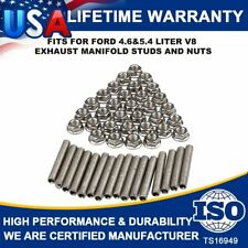 Exhaust Manifold Header Stainless Steel Stud Kits For  2 manifolds Ford 4.6/5.4L