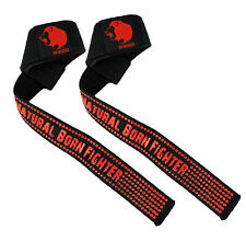 UK Warrior V2 Weight Lifting Bar Straps Wraps BodyBuilding Gym Deadlift Training