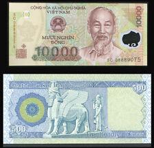 IRAQ IRAQI DINAR 500 + Receive A FREE 10,000 Viet Nam Dong -Only 25 Sets Left