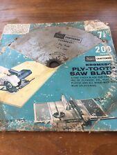 """Vintage 7¼"""" Craftsman Kromedge Ply-Tooth Saw Blade pn 32444"""